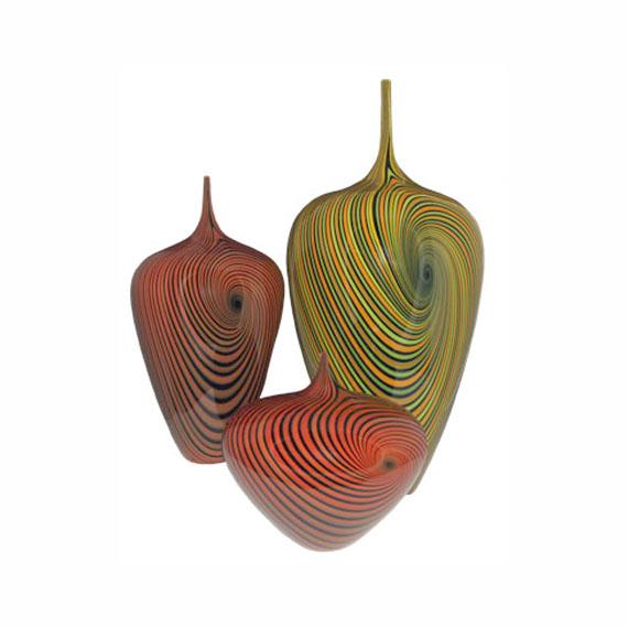 Vortex Vases Blown Glass $650