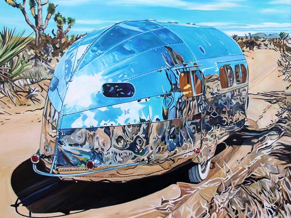 Aluminum and Joshua Tree 60x45in Acrylic $4500 Framed