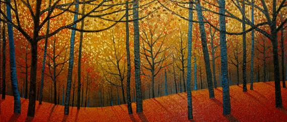Autumn Frenzy 60x30in Oil $4800