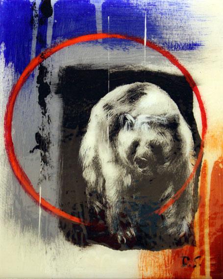 Bear #1 8x10in Mixed Media $550