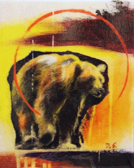 Bear #2 8x10in Mixed Media $550