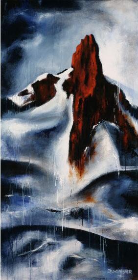 Black Tusk #3 72x36 Acrylic, $7700