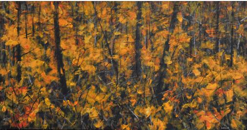 Days Gone By 72x38in Acrylic $4000