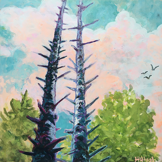 Evening Glow 12x12in Acrylic and Oil $300