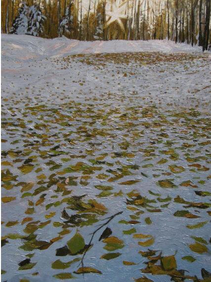 Fallen Winter Branch 18x24in Oil $1200 framed
