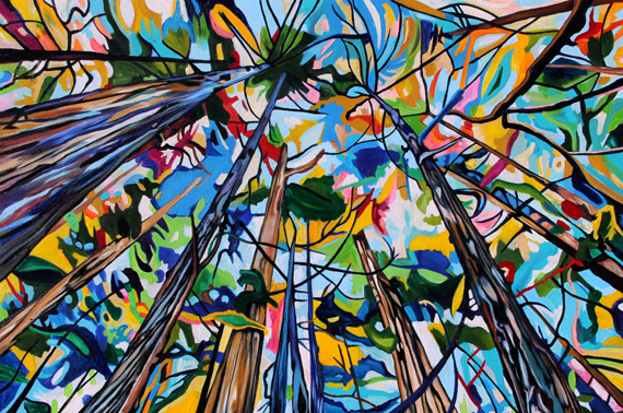 Forest 42x28in Acrylic $2100