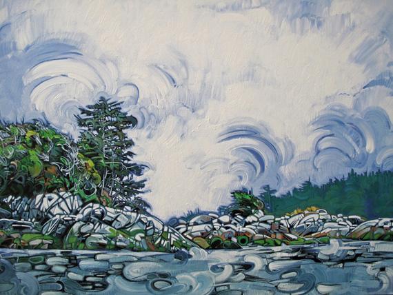 Broken Island #5 48x35in Acrylic $3500
