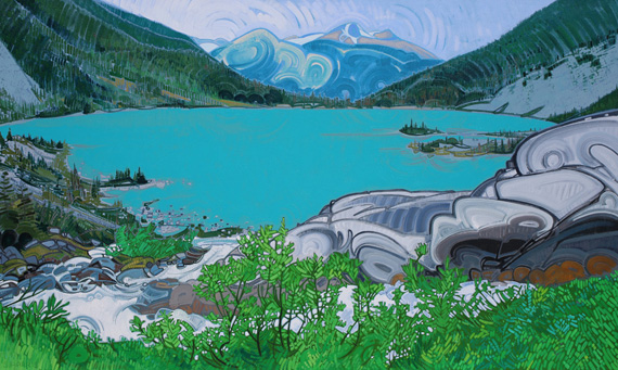 Joffre Lakes IV 60x36in Acrylic $3450