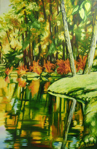Lagoon Reflections 40x60in Oil $3400