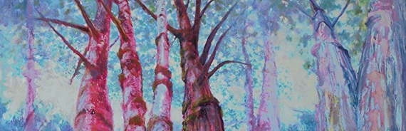 Magic Forest Family 63x21in Acrylic Oil and Wax $2000