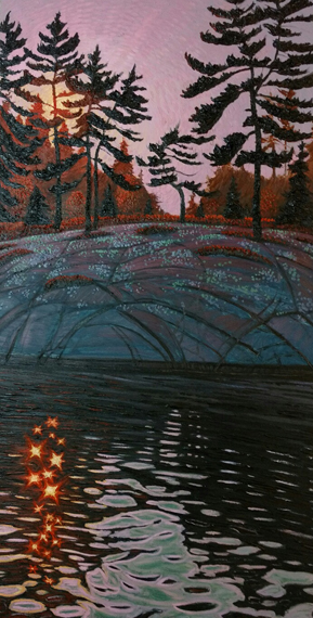 Massasauga Reflected 24x48in Oil $3300