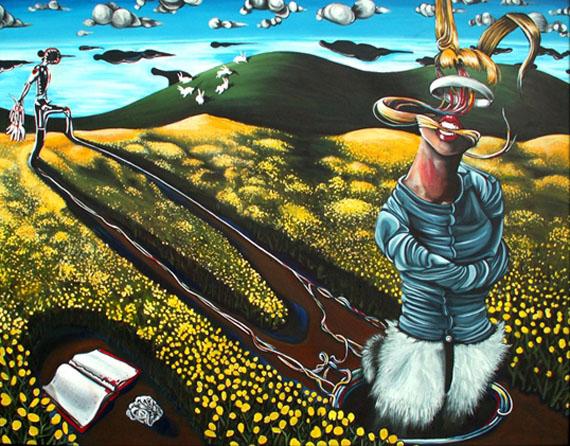 Rabbit Catcher 65x50in Acrylic $3450