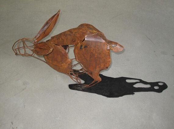 Running Hare 27x19x12in Welded Steel $1300
