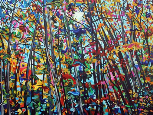 Shoal Lake Road 40x30in Acrylic $2100