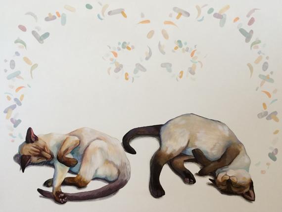 Siamese Dream II 40x30in Acrylic $2800