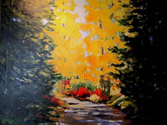 Trail to Cheakamus 60x40in Acrylic $3900