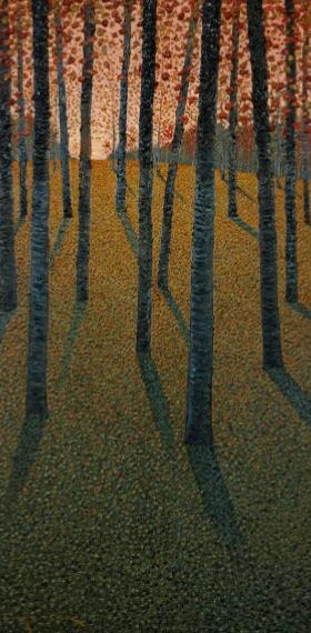 Velvet Autumn Forest 24x48in Oil $3300
