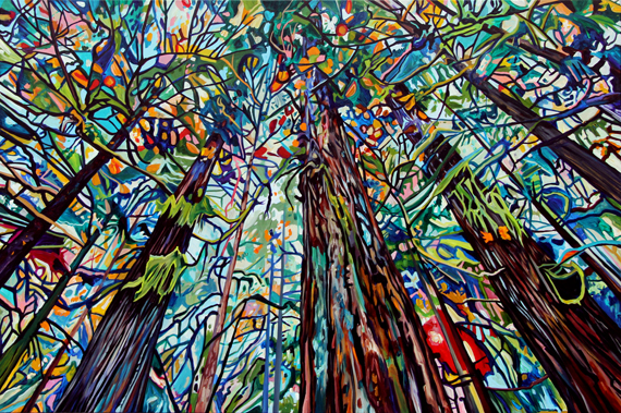 Violet Forest 60x40in Acrylic $4225