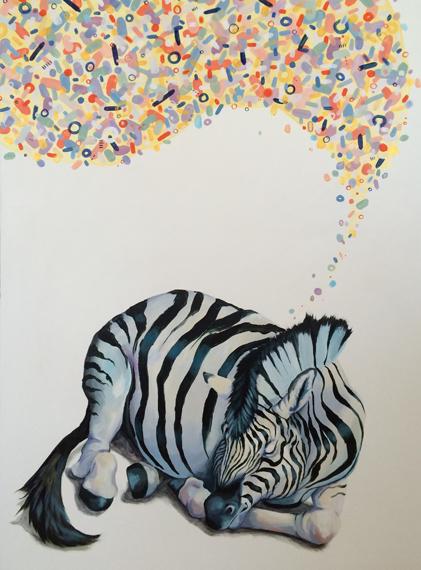 Zebra Dream 36x48in Acrylic $3900