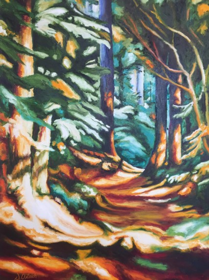 Dappled Trail 24x36  Oil $1700
