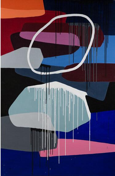 Homo Faber #18 48x72in Acrylic, $7300