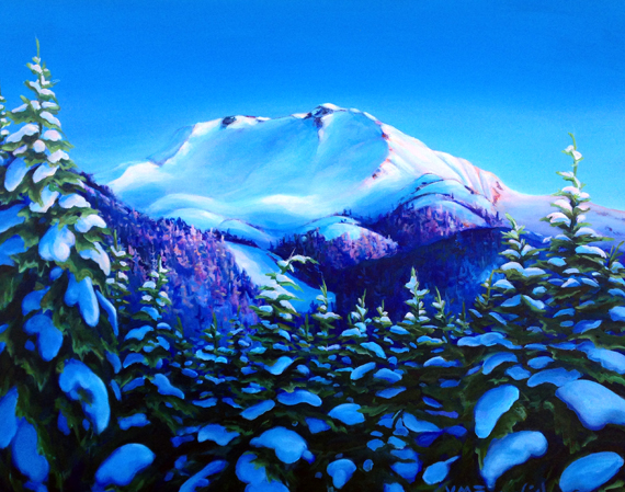 Whistler Alpenglow 30x24in Acrylic $1565