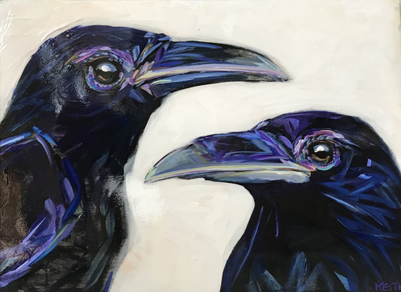 Jack and Diane 24x18in Acrylic $735