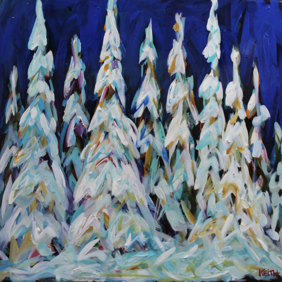 Working on Winter 24x24in Acrylic $840