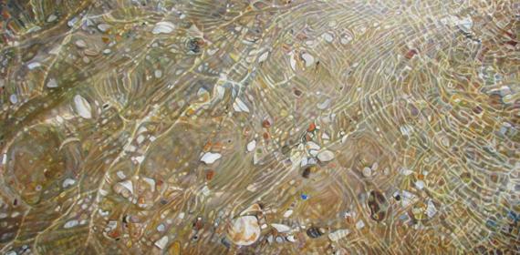 Beach Gold 72x36in Oil $5950 Framed