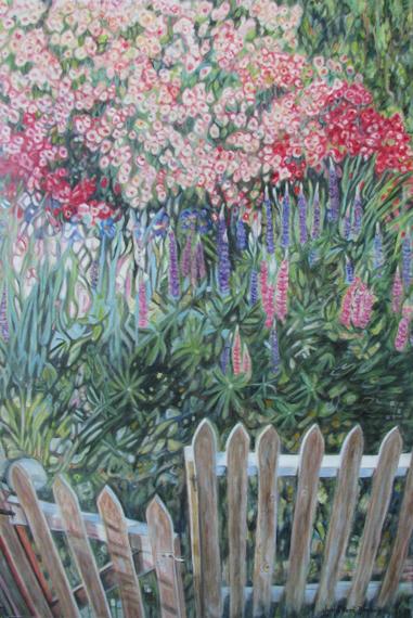 Marj`s Garden 24x36in Oil $1700