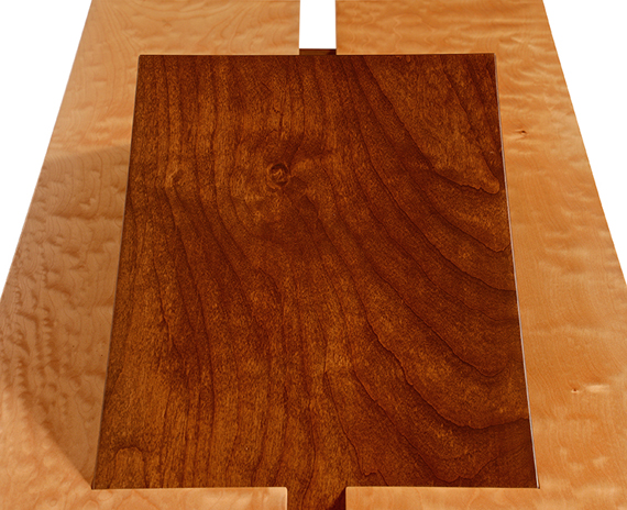Visions of Hawaii Quilted Maple and Alder 60x21x24in $3500