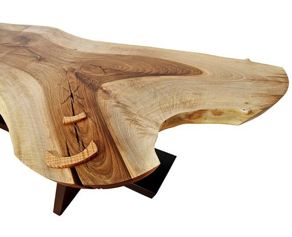 Walnut in Balance Walnut, Maple, Painted Wood, Granite 77x20x34in $4900