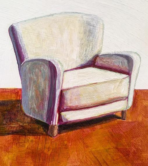 Cream Chair 6x8in Acrylic $150