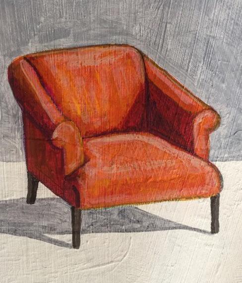 Orange Chair 6x8in Acrylic $150