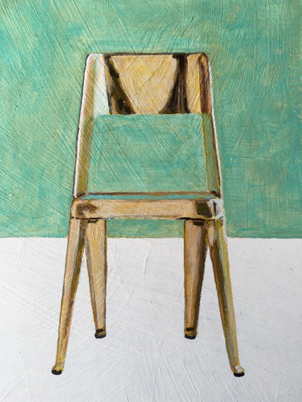 The other gold chair 6x8in Acrylic $150