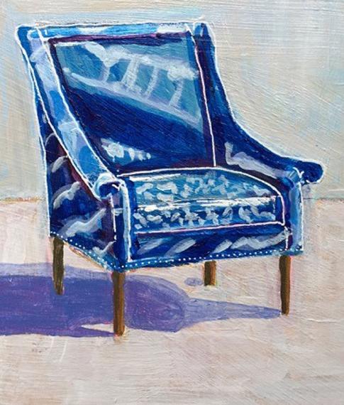 Tie Dye Chair 6x8in Acrylic $150