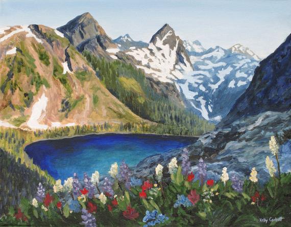 Alpine Study II 14x11in  Acrylic $420