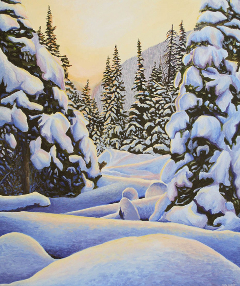 Winter Morning 36x30in Acrylic $2100