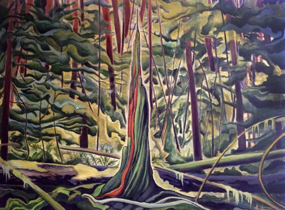 Soul of Cedar 48x36in Acrylic $1950