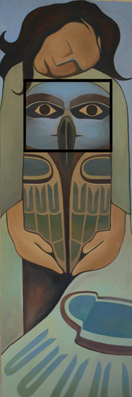 Embracing the Totem Within 60x20in  Acrylic $1900