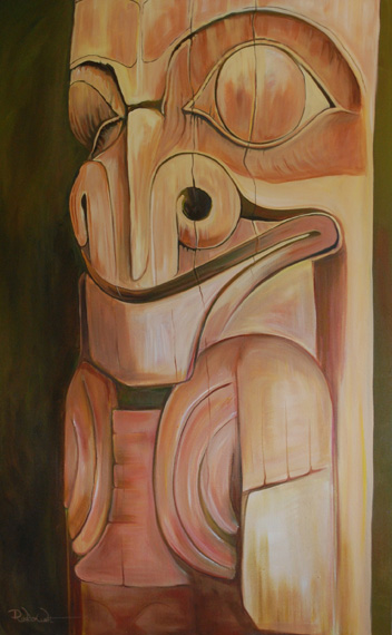 Yellow Bear 59x37in Acrylic $1900