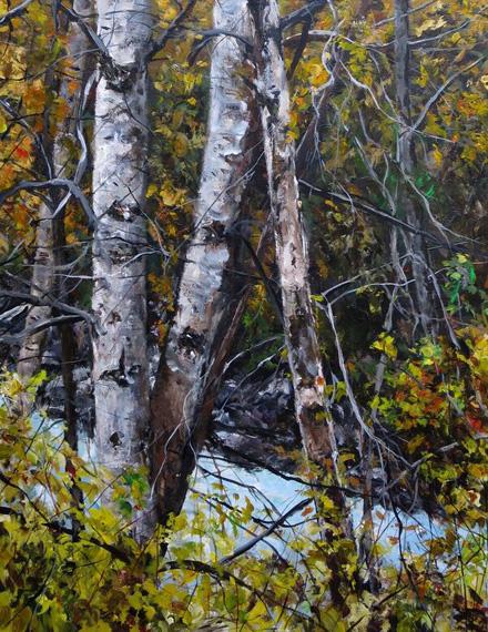 Autumn Creek 42x54in  Acrylic $3800
