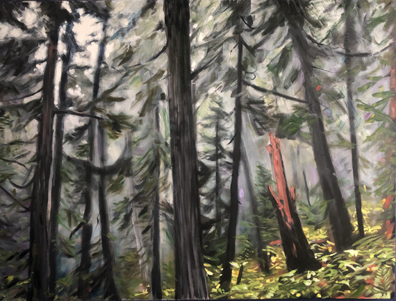 Misty Forest 48x36 Oil $1500