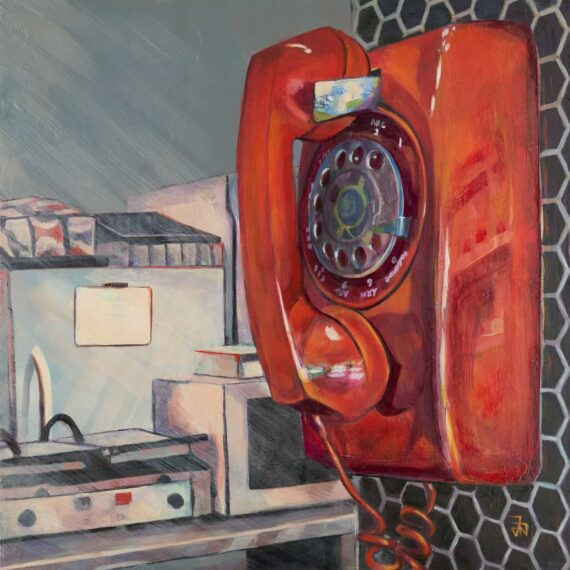 Call For Take Away 16in x 16in acrylic on panel $800