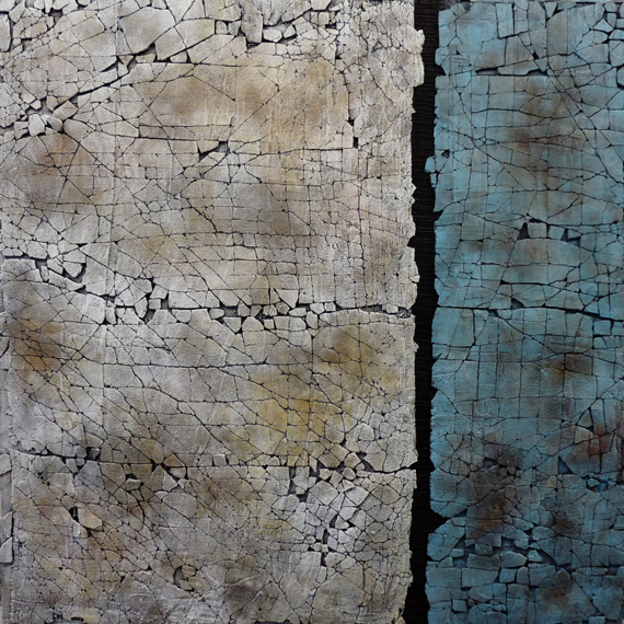 Slate and Mica Study 36x36in Mixed Media $2500