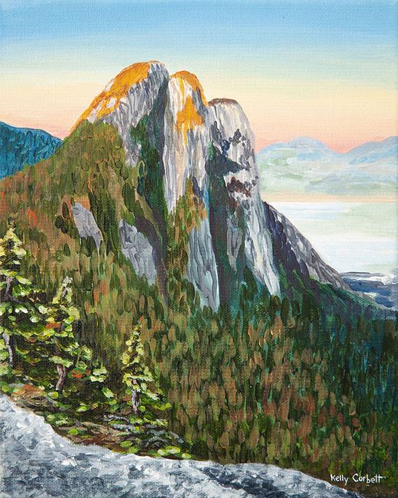 Squamish Study #3 8x10in Acrylic $250 ,