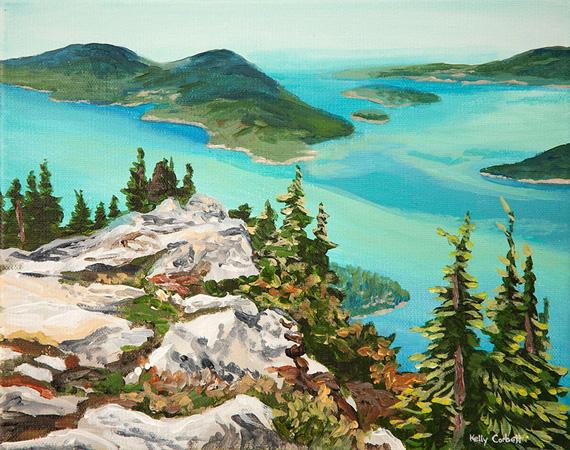 Squamish study #1 8x10in Acrylic $250
