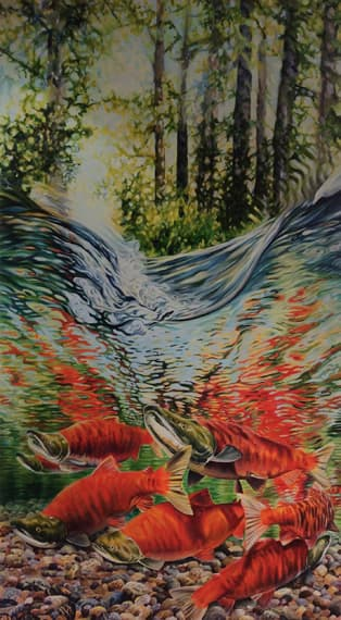What is The Dream, Who is the Dreamer 36x66in Acrylic $5000