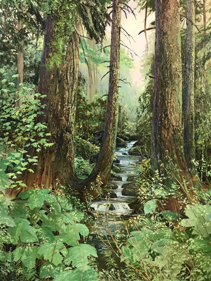 Forest Stream 36x48in Oil $3200