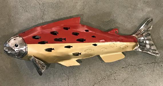 Salmon 35x12in Welded Steel $1000